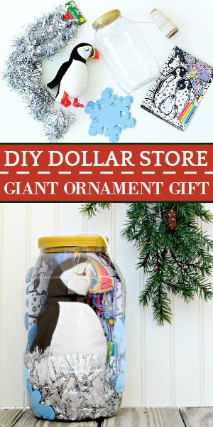 A dollar store diy Christmas gift