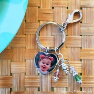 Make a DIY Heart Photo Keychain featuring your favorite photo. We'll show you how to make the picture pendant with resin and add beads to the keychain.