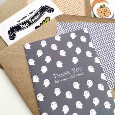 DIY Printable Halloween Thank You Cards