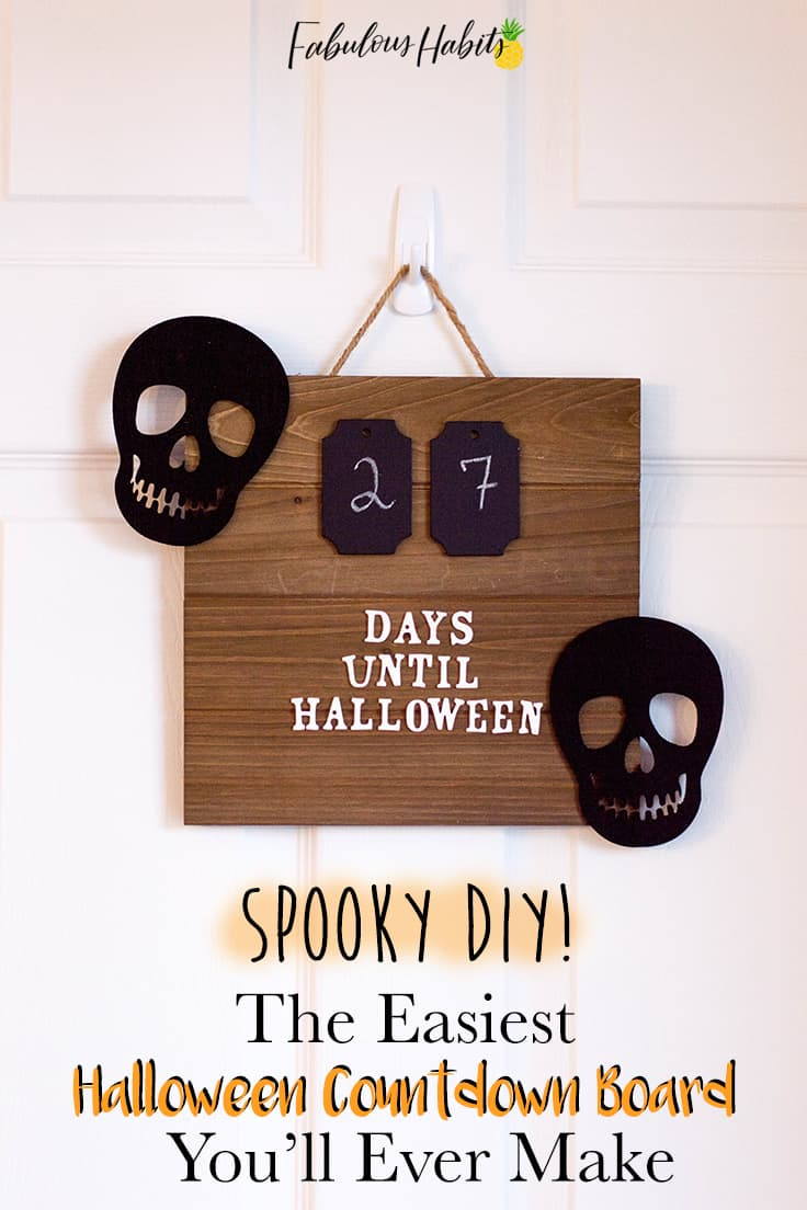 Have you started counting down the days to the spookiest time of the year? Add a classy element to your indoor Halloween decor, and learn how to make this fun DIY Halloween Countdown Board! #halloweendecor #halloween #halloweendecorations #halloweencrafts #homedecor #kenarry