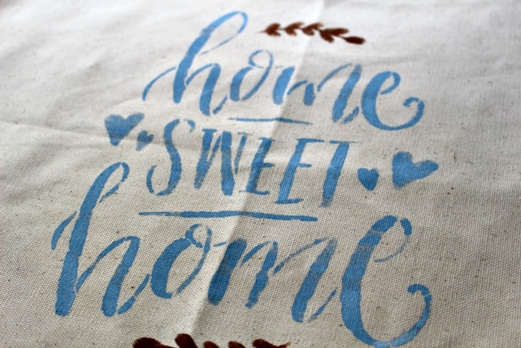 Home Sweet  Home Finished Stencil Our Crafty Mom