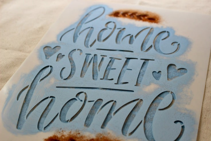 Home Sweet Home Stencil With Paint Our Crafty Mom