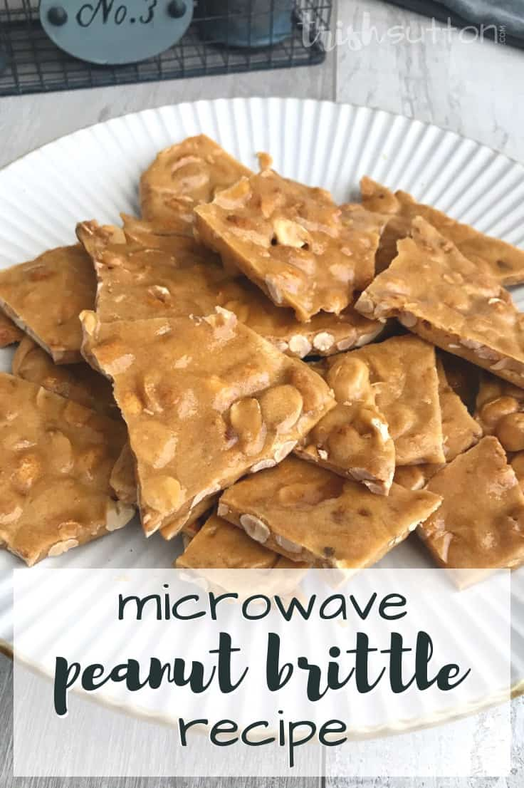 This Simple Peanut Brittle Microwave Recipe is a homemade holiday game changer. Learn how to make an easy recipe that tastes just as good as the stovetop and candy thermometer version. #peanutbrittle #holidaybaking #kenarry