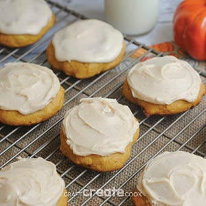 Ultimate Melt In Your Mouth Pumpkin Cookie Recipe from Craft Create Cook.