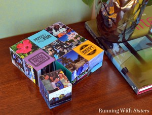 Make a set of vacation cubes using Mod Podge and printed photos. It's like an interactive scrapbook!
