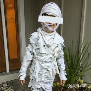 Need an easy Halloween costume idea for kids? In this DIY tutorial, you'll learn how to make a mummy costume with bandages and old t-shirts.