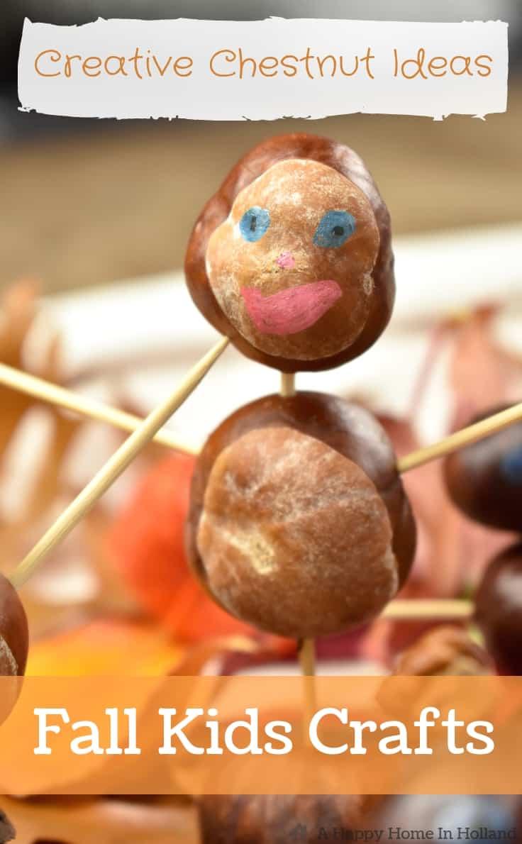Horse Chestnut Animals People Fun Fall Kids Craft Idea