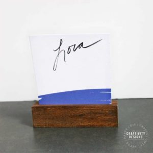 How to Make Easy DIY Wood Place Card Holders