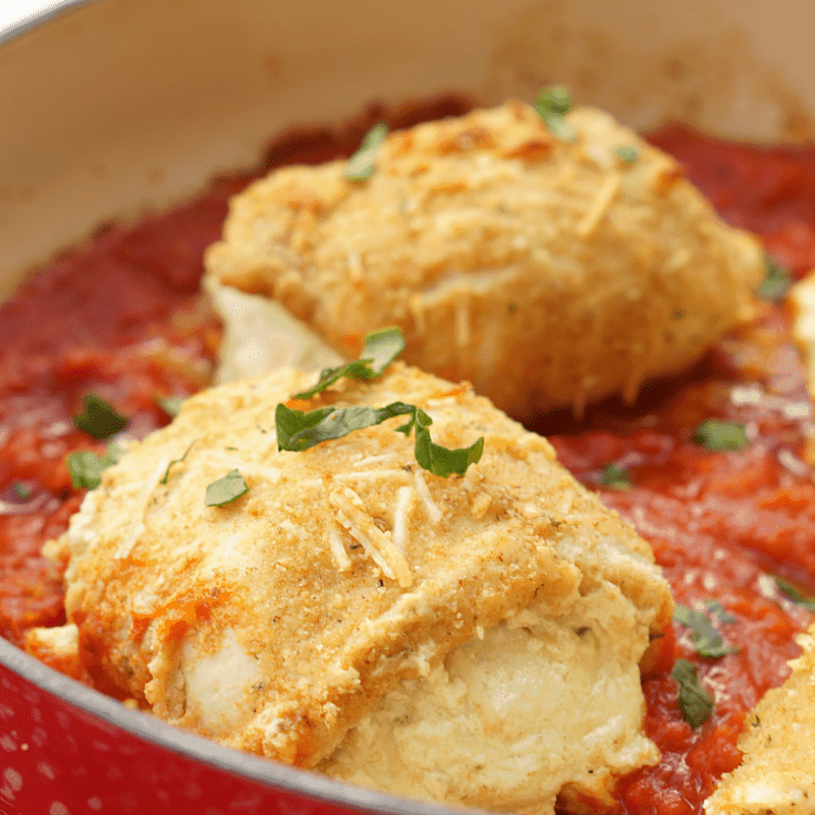 Lasagna Stuffed Chicken Breasts: A Simple One Pot Dinner
