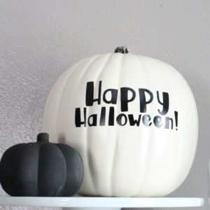 Easy DIY Vinyl Pumpkin Without a Cutting Machine