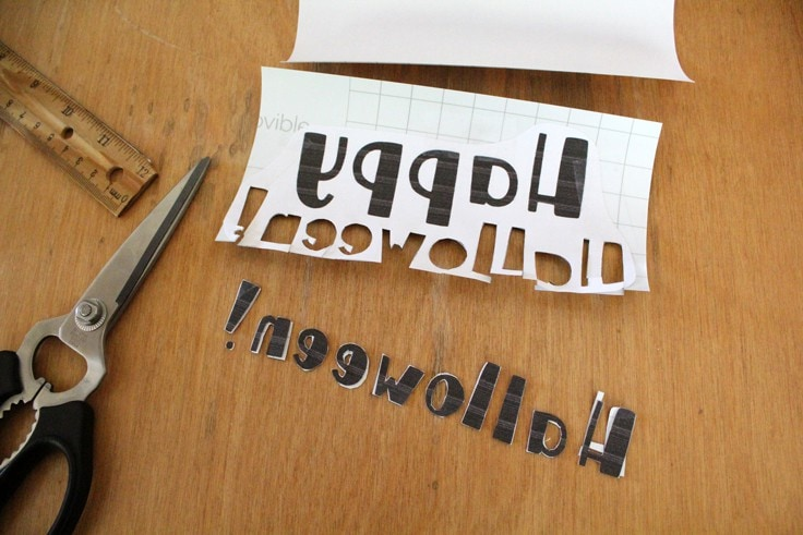 cutting vinyl letters