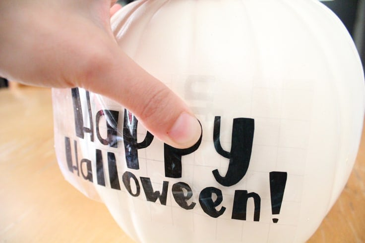 Happy Halloween pumpkin letters