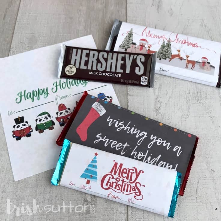 Free Printable Candy Bar Wrappers: Easy Christmas Gift