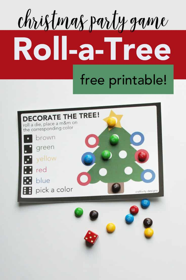 kids will enjoy playing roll a tree at christmas this simple christmas game