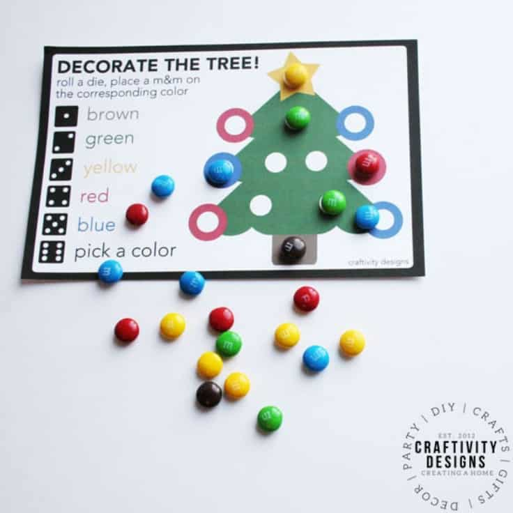 Christmas Dice Game: Free Printable Kids Activity | Kenarry