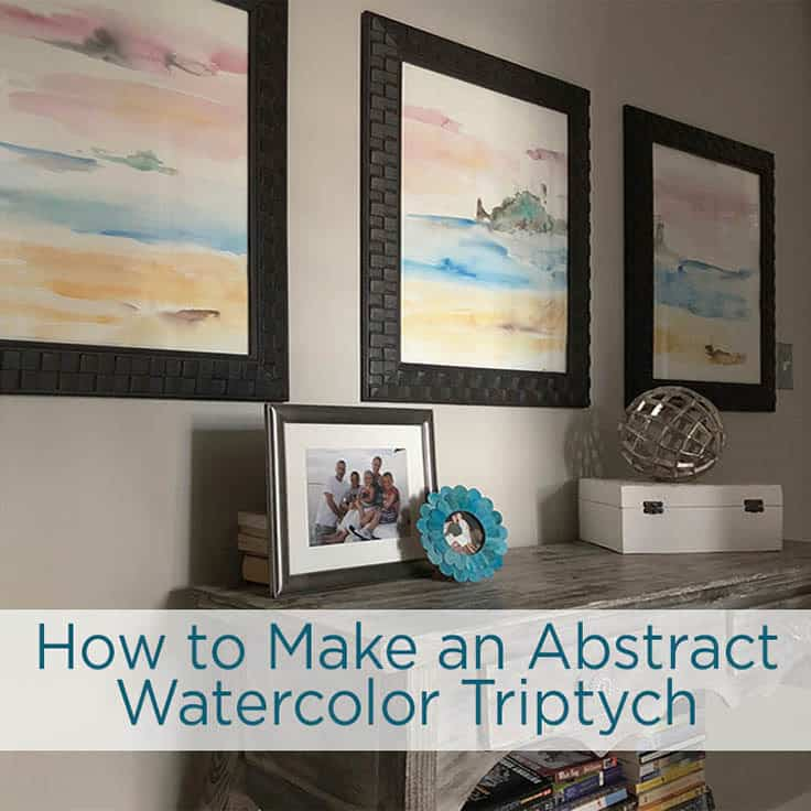You don't have to be an artist to create this abstract watercolor art background- just making patterns and painting colors is fun whether your a beginner or a pro. Use these step by step instructions to learn how to create these beautiful masterpieces. #watercolor #diyart #kenarry