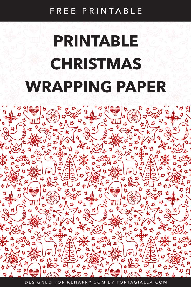 printable christmas wrapping paper : free download | kenarry