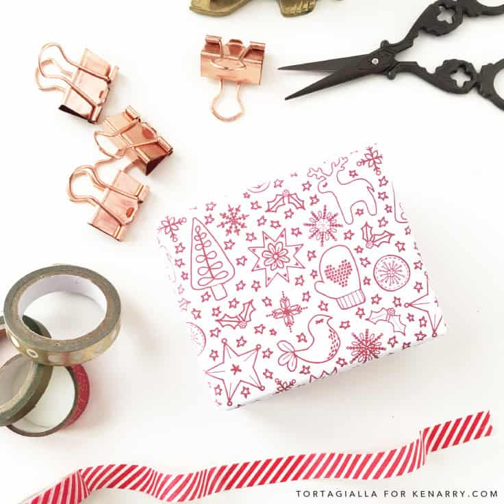 how to make a card out of wrapping paper
