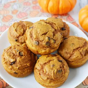 With the help of a box of cake mix, these chocolate chip pumpkin muffins are so easy to make, your family will certainly be asking for more!