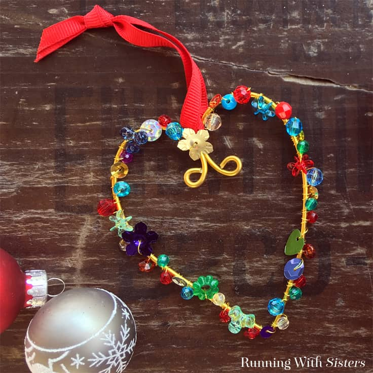 Easy To Make Colorful Beaded Christmas Ornaments
