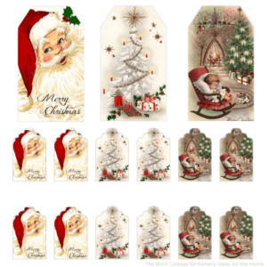 Christmas Gift Tags from Vintage Christmas Cards by The Birch Cottage