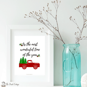 Tis the Most Wonderful Time of the Year Print by The Birch Cottage