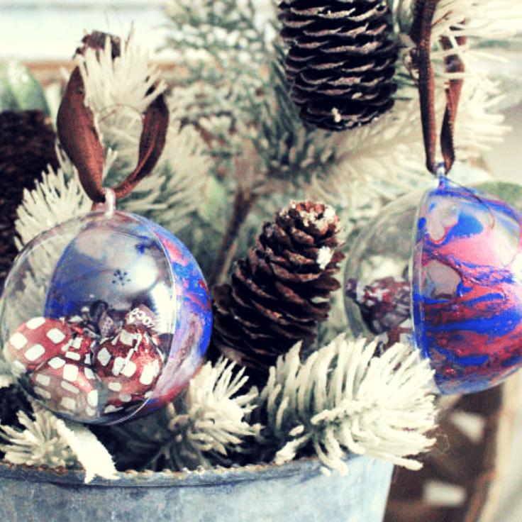 How To Make Nail Polish Dipped Christmas Ornaments