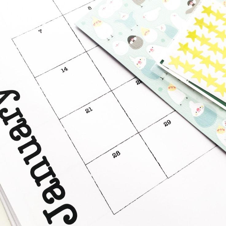 Kids Planner Printables: Free Calendar Pages