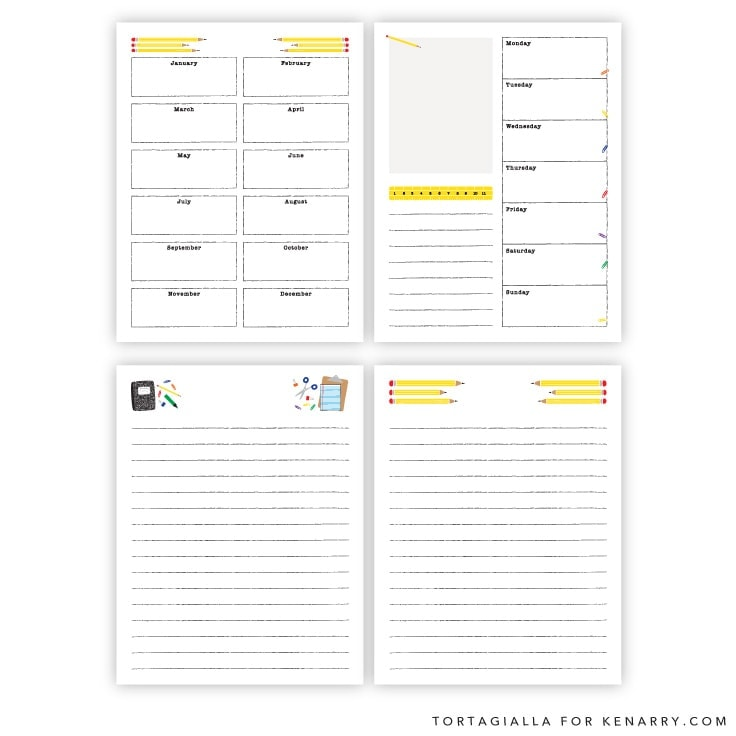 Kids Planner Printables Free Calendar Pages Ideas For The Home