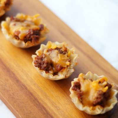 These Mini Taco Tarts are a delicious and easy appetizer that you will find yourself making time and time again!