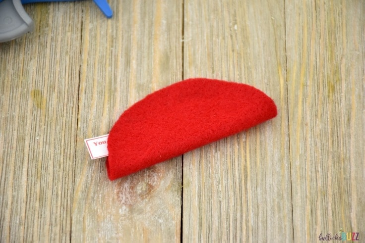 DIY Felt Fortune Cookies fold circle in half and seal