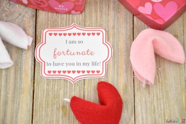 DIY Valentine's Day Fortune Cookies free printable tag