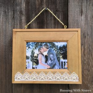 Make your own Boho Beaded Picture Frame. We'll show you how to add lace, pearls, and crystals to a wooden frame. And how to make a beautiful beaded hanger!