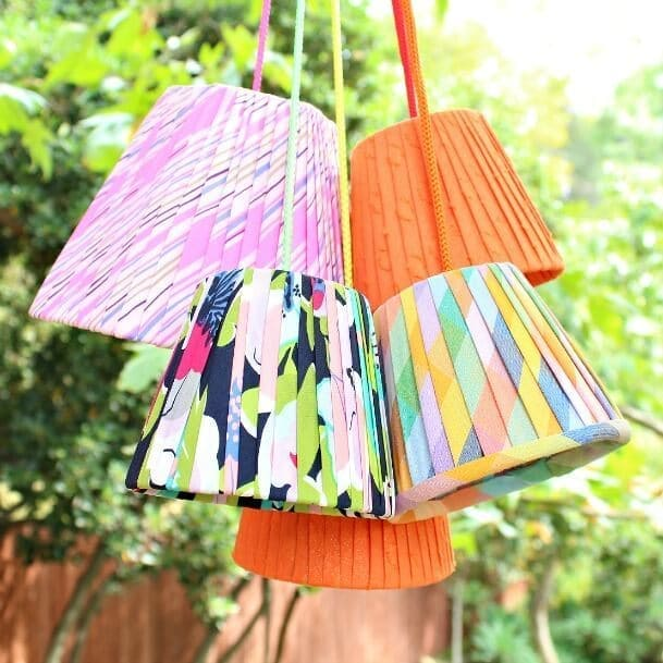No Sew Pleated Lamp Shades