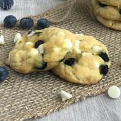 Soft Blueberry White Chocolate Chip Cookies Recipe | TrishSutton.com
