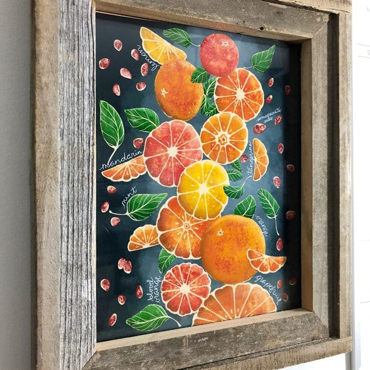free printable wall art orange