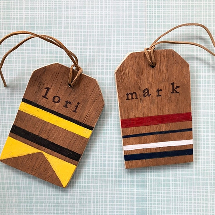 How to Make Rustic Wooden DIY Luggage Tags