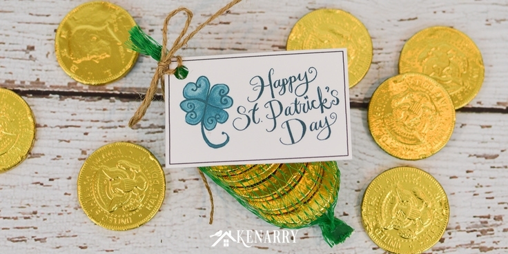 Celebrate the luck of the Irish with free printable Happy St. Patrick's Day gift tags featuring a shamrock or four leaf clover, perfect for party favors and treats!