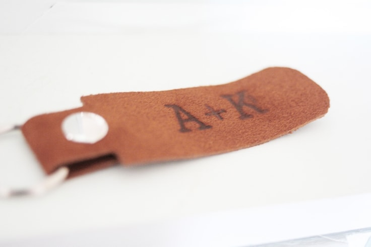 Learn how to make a personalized leather keychain.