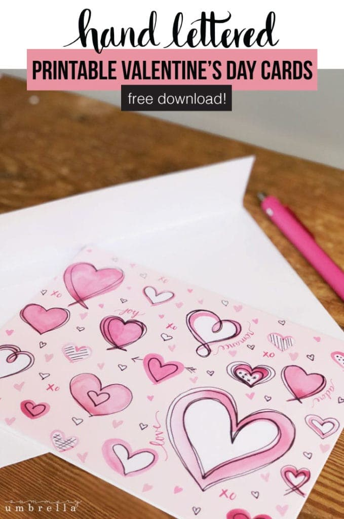 Have you been looking for printable Valentine's Day Cards for the upcoming holiday? Look no further, my friend! These FREE beauties are perfect for both kids and adults alike. #valentinecards #printables #kenarry