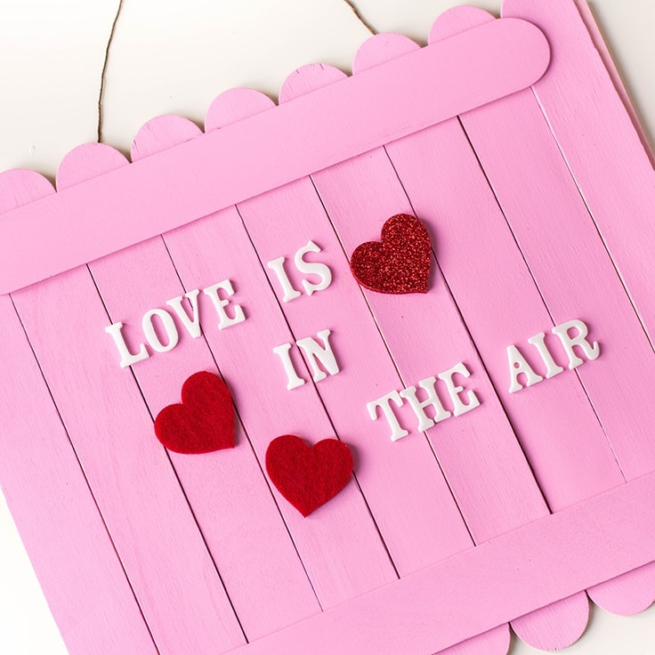 How to Make a DIY Valentine's Day Wall Sign