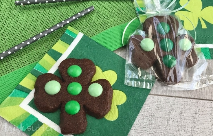 Create festive Chocolate Mint Shamrock Cookies to celebrate St. Patrick's Day and the month of March with this fun recipe.