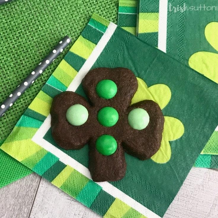 Most Festive Chocolate Mint Shamrock Cookies Recipe