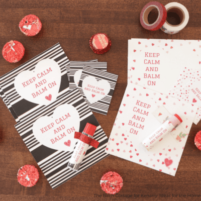 Free Printable Keep Calm and Balm on Lip Balm Valentines and Wrappers by The Birch Cottage