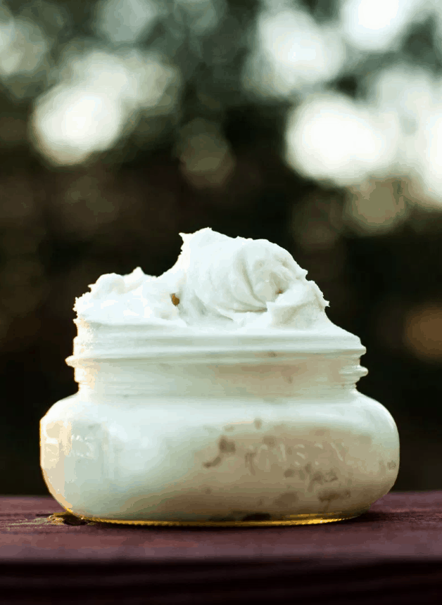 DIY whipped body butter with shea butter and essential oils