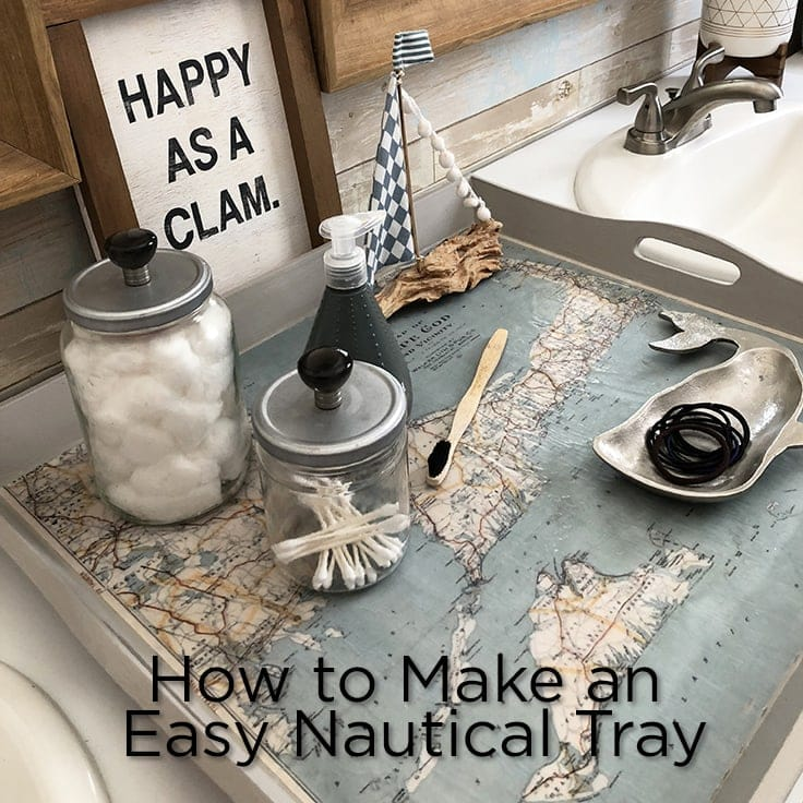 Map Tray Diy Nautical Decor Idea For Your Home Ideas For