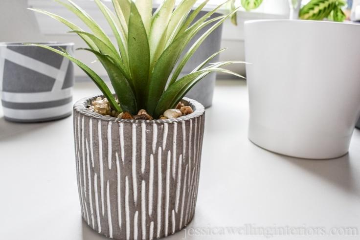 image of modern indoor planter.