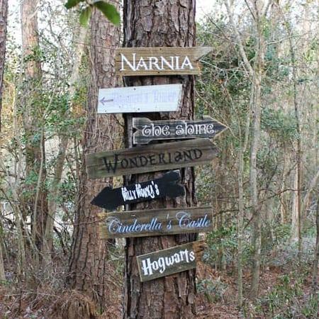 diy fairy tale signs