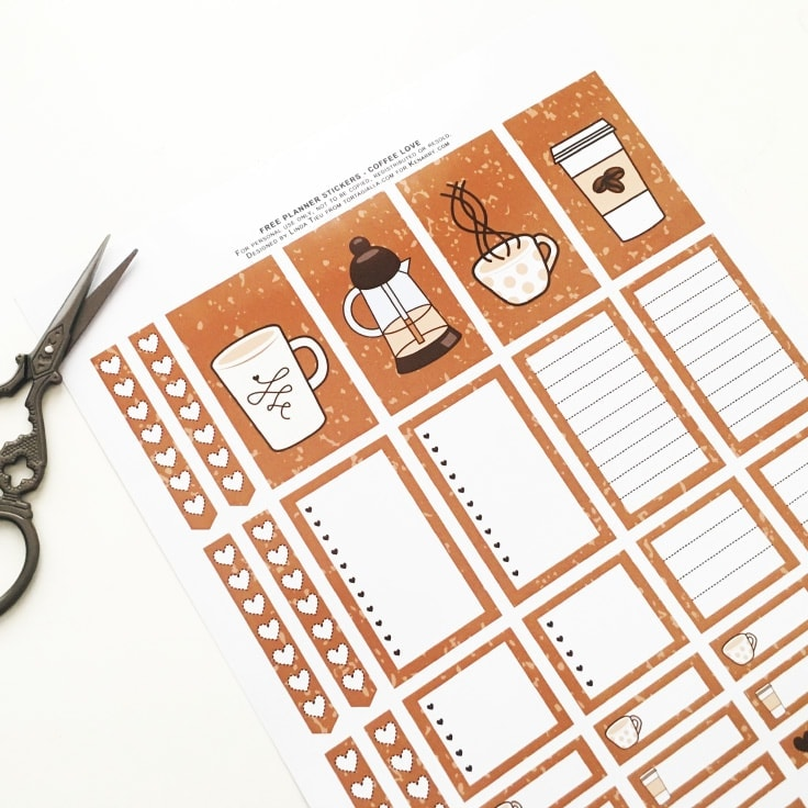 Free Printable Planner Stickers for Coffee-Lovers