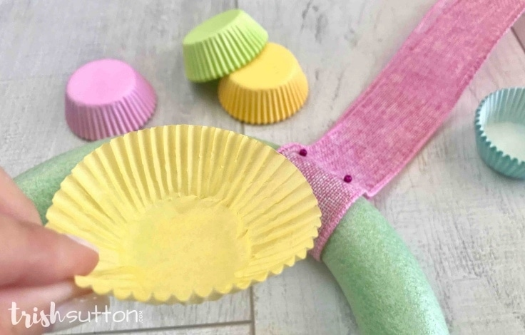 Step 2. Fold the cupcake liners.